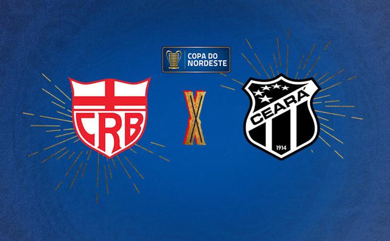 CRB x Ceará - Copa do Nordeste - Quartas de Final - Ida