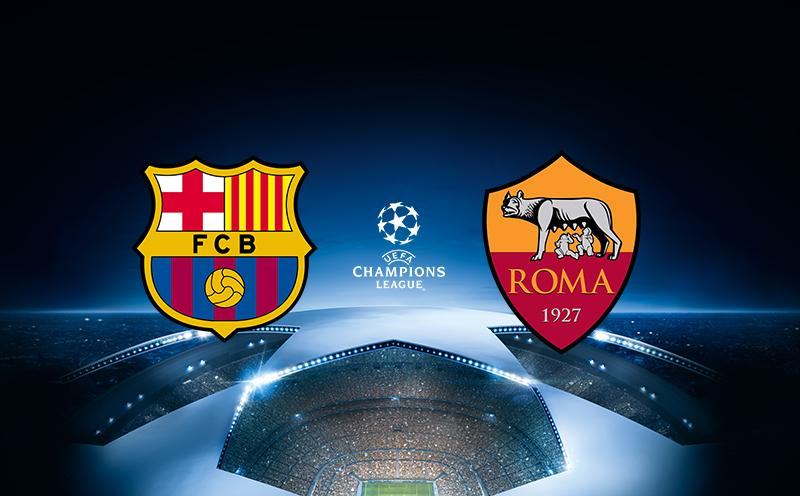 Barcelona x Roma - Champions League | 17-18 - Quartas de Final - Ida