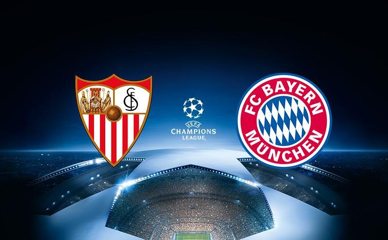 Sevilla x Bayern de Munique - Liga dos Campeões - Quartas de Final - Ida