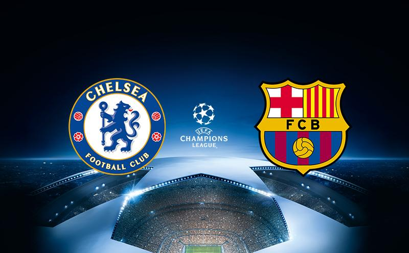 Chelsea x Barcelona - Champions League | 17-18 - Oitavas de Final - Ida