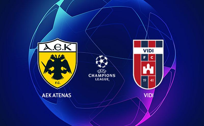 AEK Atenas x Videoton - Champions League - Playoffs - Volta