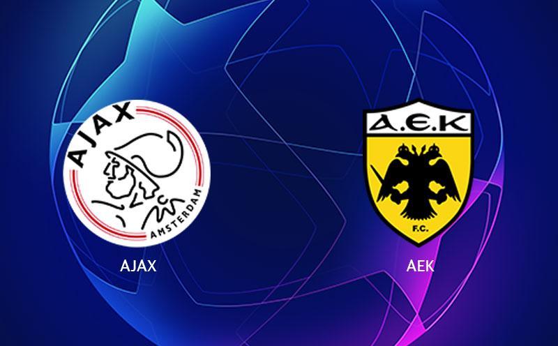 Ajax x AEK Atenas - Champions League - Fase de Grupos - 1ª Rodada