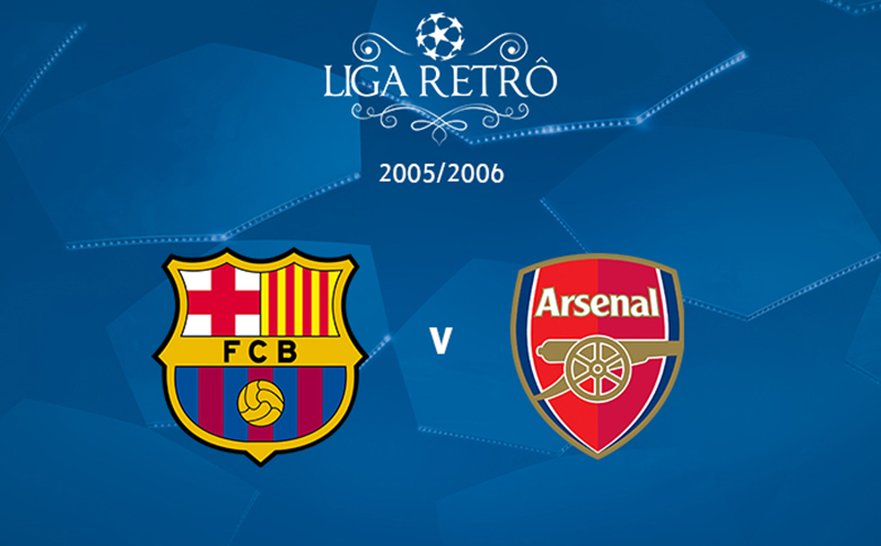 Liga Retrô: Barcelona x Arsenal - Final - Temporada 2005/2006