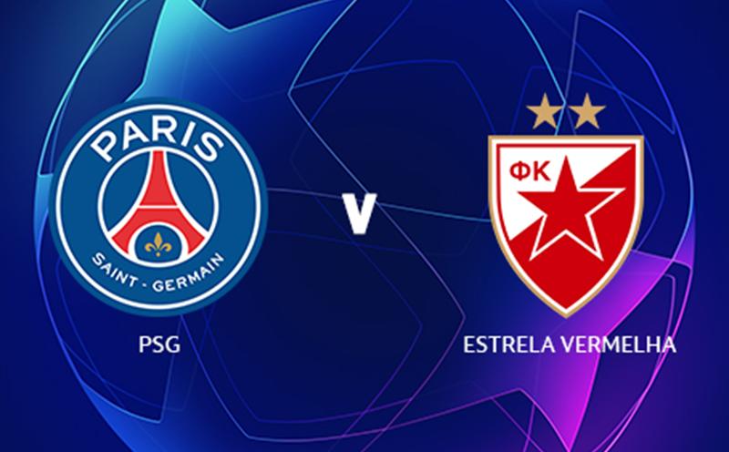 PSG x Estrela Vermelha - Champions League - Fase de Grupos - 2ª Rodada