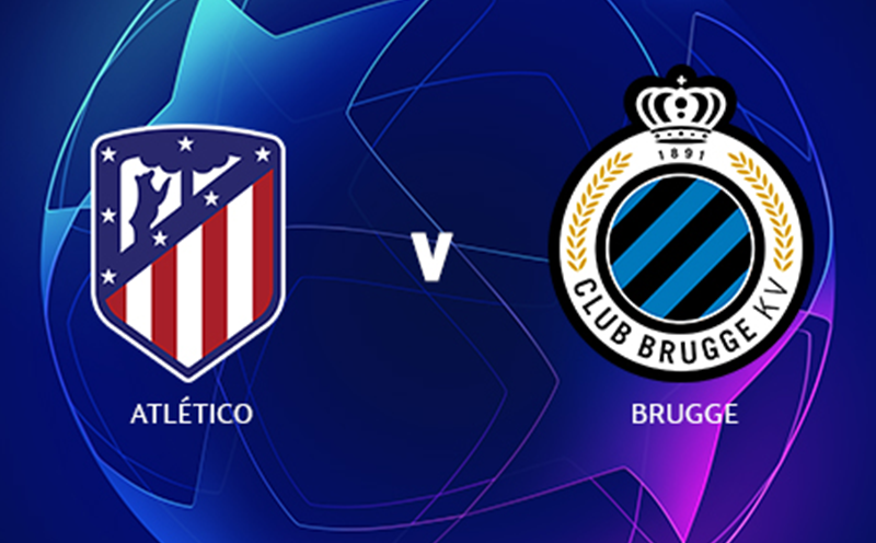 Atlético de Madrid x Club Brugge - Champions League - Fase de Grupos - 2ª Rodada