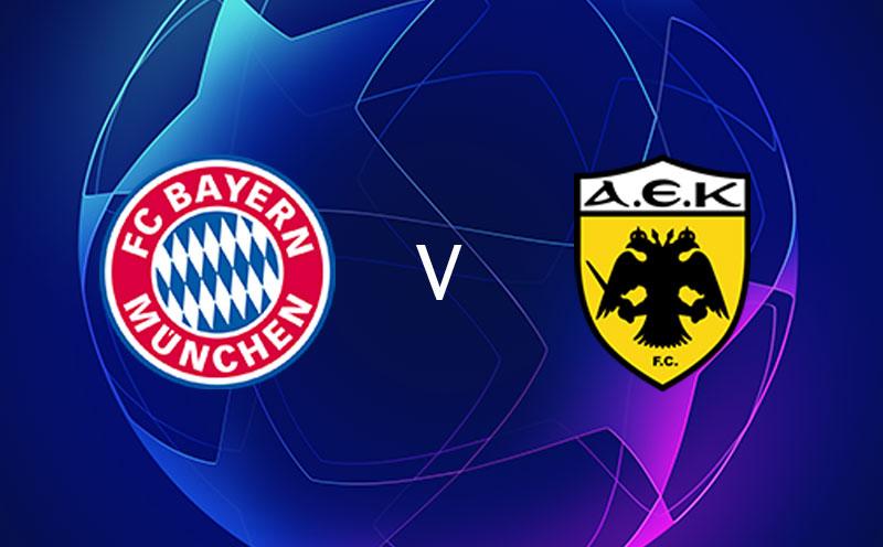 Bayern de Munique x AEK Atenas - Champions League - Fase de Grupos - 4ª Rodada