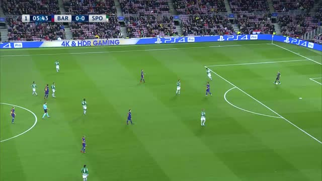 Barcelona x Sporting - Champions League 17-18