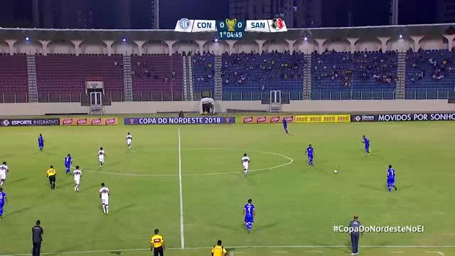 Confiança x Santa Cruz - Copa do Nordeste - 1ª Rodada