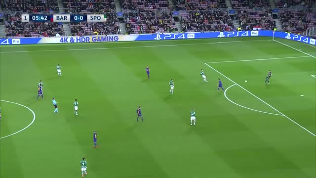 Barcelona x Sporting - Champions League | 17-18 - 6ª Rodada