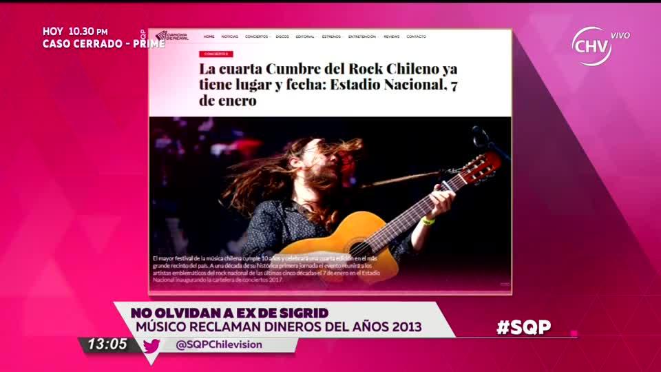 Músicos chilenos contra ex de Sigrid Alegría por deudas